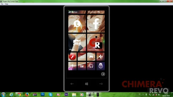 Visualizzare lo schermo di Windows Phone 8.1 su PC