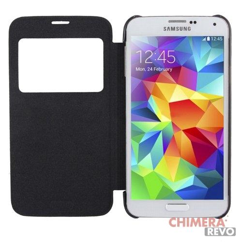 Custodia View Flip NeraCover con Finestra per il Samsung i9600 Galaxy S5 Case