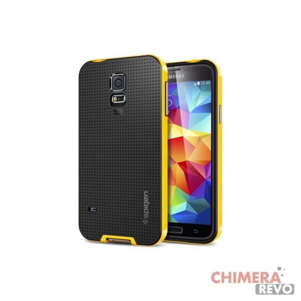 Spigen Custodia NEO HYBRID Case per Samsung Galaxy S5 giallo