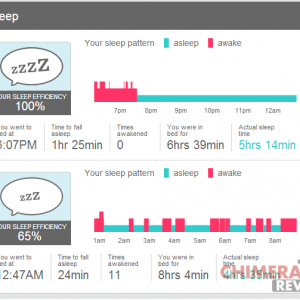 fitbit flex efficienza sonno