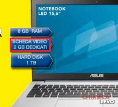 volantino scheda video portatile