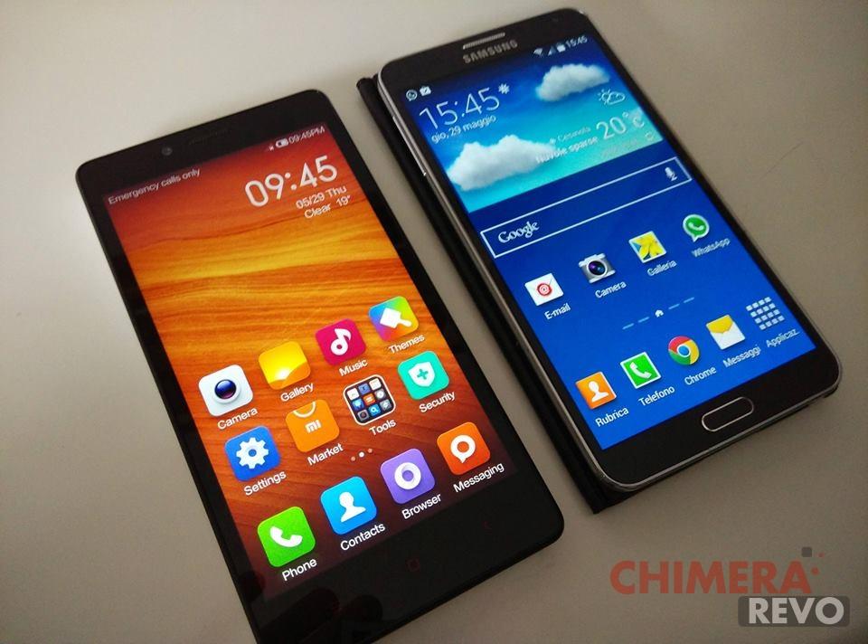 Xiaomi RedMi Note vs Galaxy Note 3