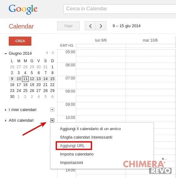 Calendario mondiali 2014 - Google Calendar