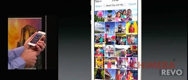 iOS 8 rullino fotografico