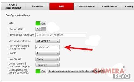 Cambiare password Wi-Fi su Vodafone Station 1, 2 e Revolution