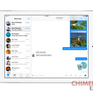 Facebook Messenger per iPad