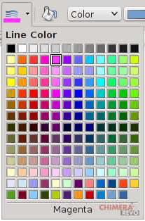 palette colori in LibreOffice