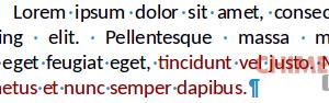 caratteri non stampabili in LibreOffice