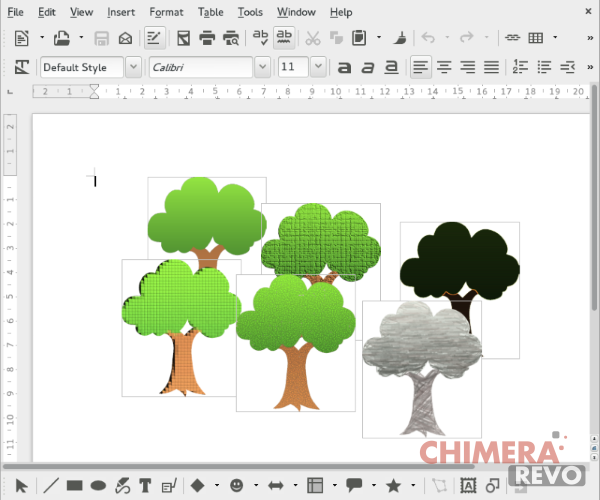 effetti artistici e 3D di Office preservati in LibreOffice