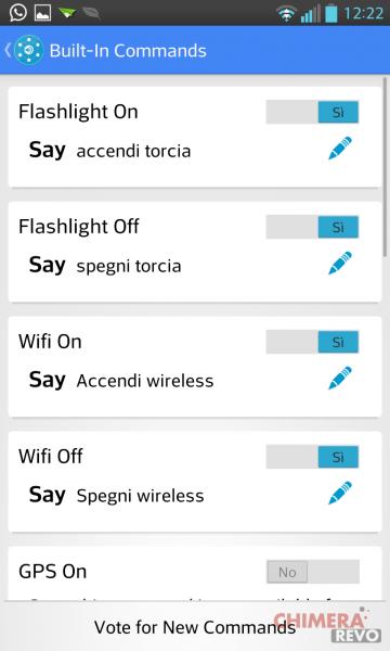 aggiungere comandi vocali a Google Now