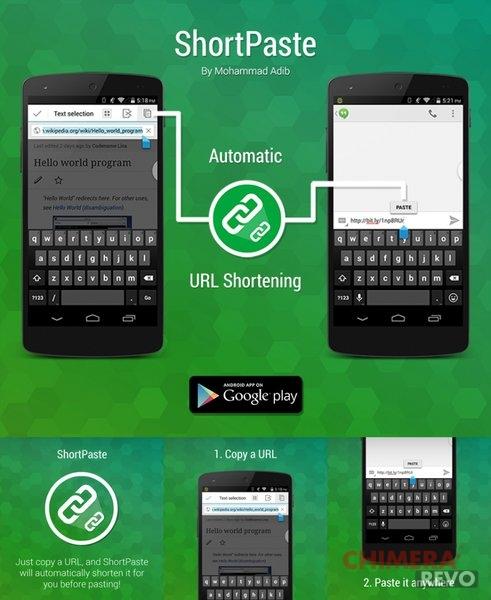 Ridurre i link automaticamente su Android