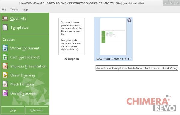 lo Start Center migliorato in LibreOffice 4.3