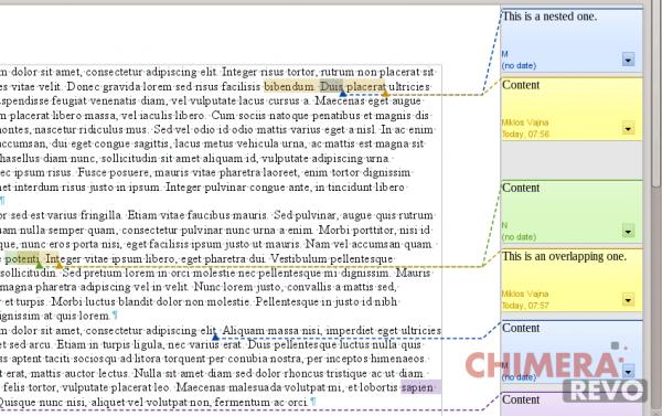 commenti uno dentro l'altro in LibreOffice