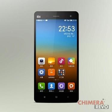 Xiaomi Mi4 render nero