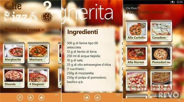 Che Pizza! - App di ricette per Windows Phone