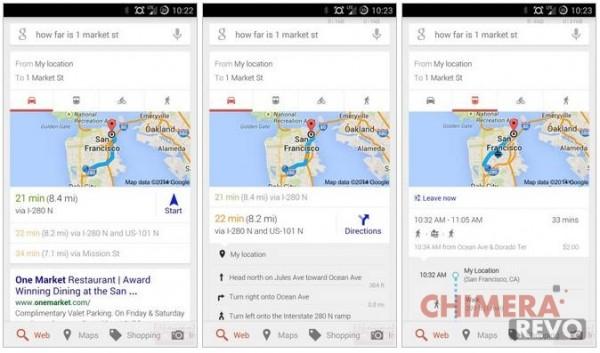 Google now indicazioni stradali