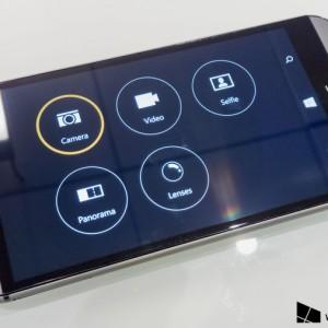 HTC One M8 camera app menu