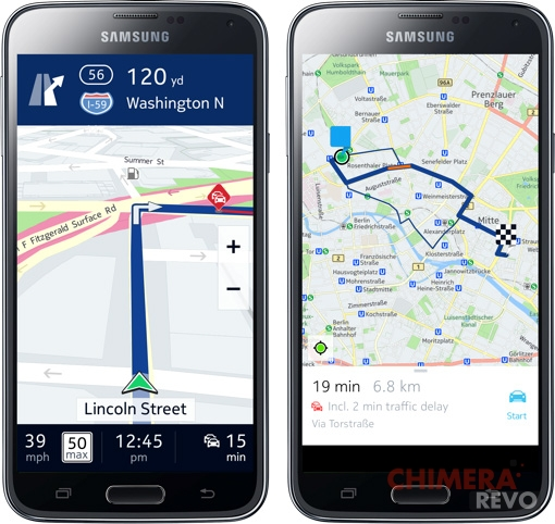Nokia Here Android - Samsung Galaxy