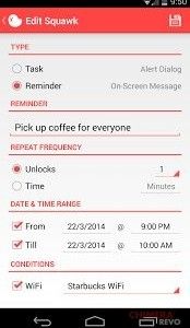 Squawk Reminders on Unlock2