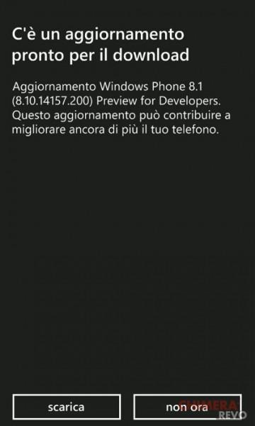 Windows Phone Developer Preview 8.10.14157.200