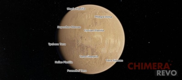 Marte su Google Maps