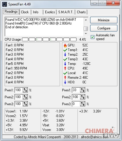 controllare la temperatura del computer - Speedfan