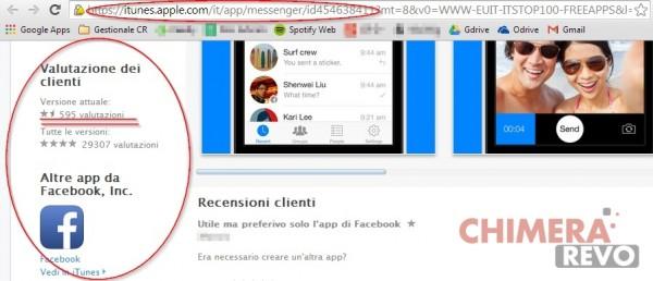 Facebook Messenger su App Store