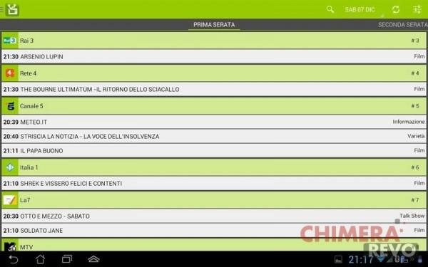 app Android di guida TV