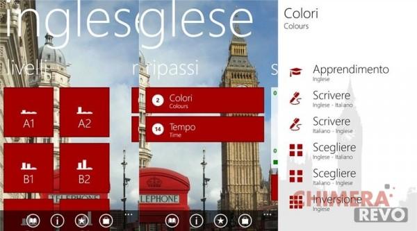 app per la scuola Windows Phone - Inglese
