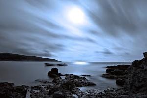 Night Seascape by Davor Dopar