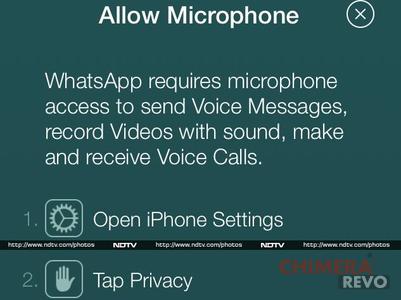 WhatsApp chiamate vocali iOS