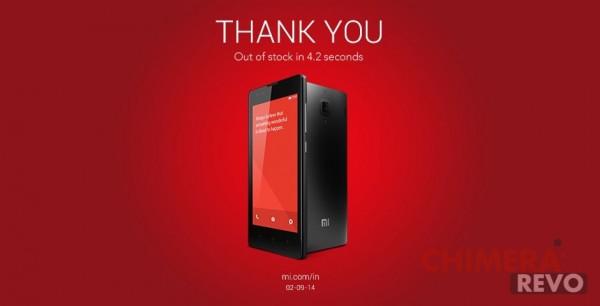 Xiaomi RedMi 1S vendite record 40000