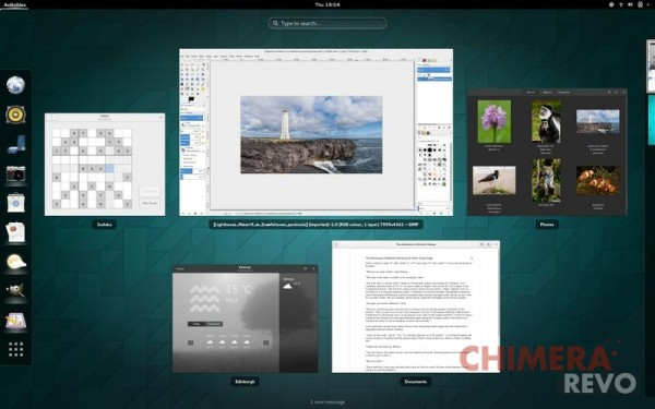 GNOME 3.14 - Activities Overview