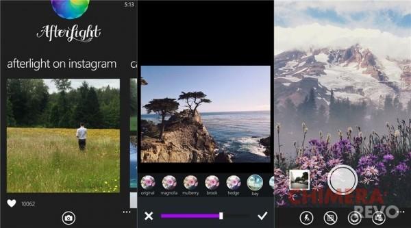 Afterlight per Windows Phone 8