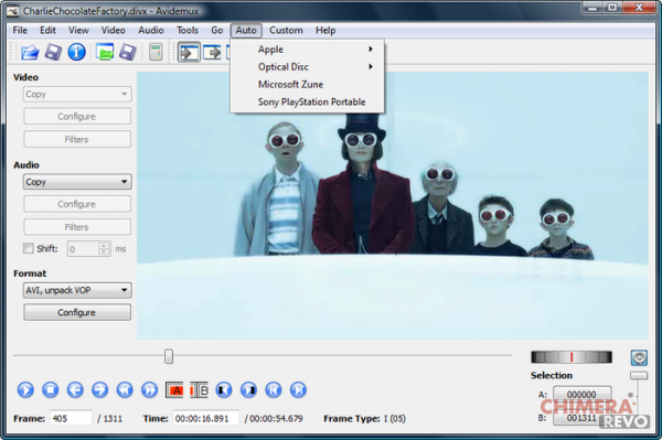 avidemux - programmi di video editing per Linux