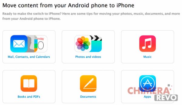 guida da android a iphone