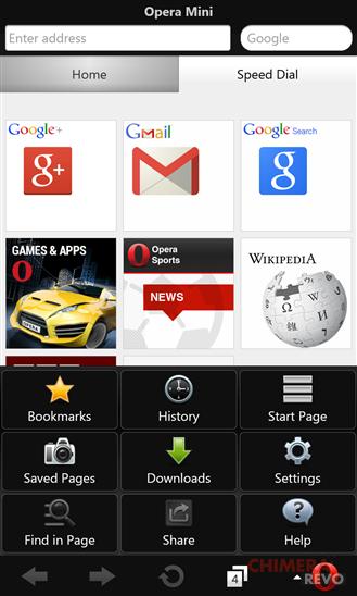 Opera Mini per Windows Phone