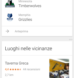 NBA NFL e NHL Google Now 3