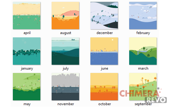 Sfondi Google Calendar in material design