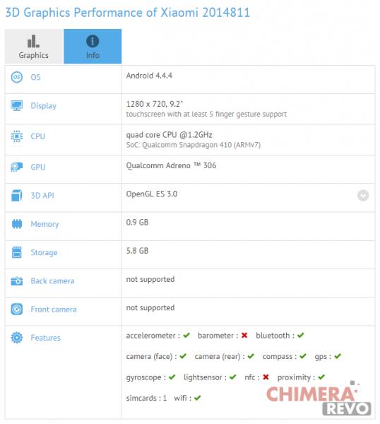 Xiaomi tablet low cost