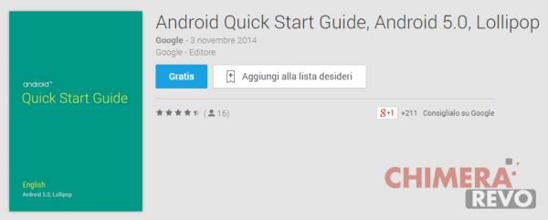 Android Quick Start Guide, Android 5.0 Lollipop