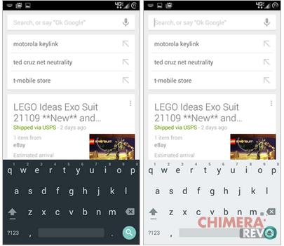 Google Keyboard 4.0 material design