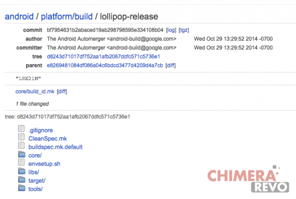 android 5.0 lollipop repository aosp