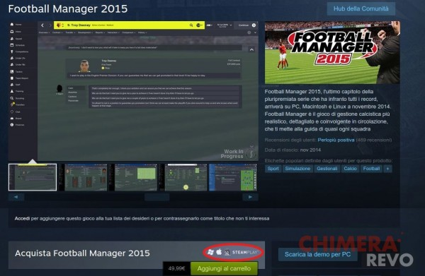 Football Manager 2015 per Linux