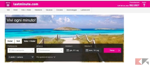 siti per viaggi vacanze
