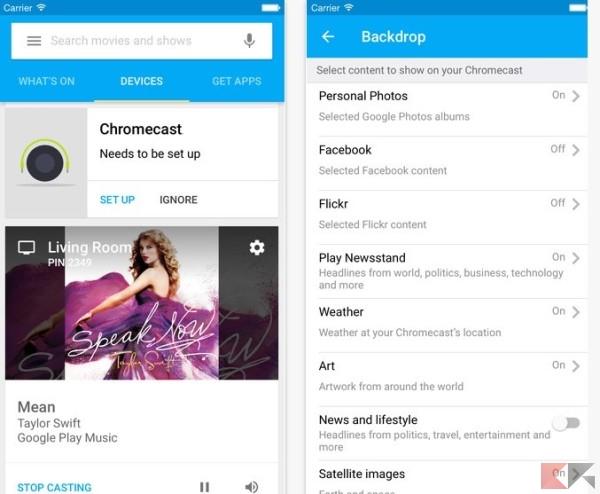 App iOS Chromecast