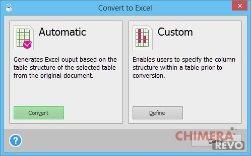 Convert to Excel
