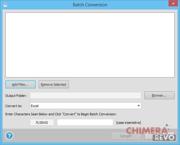 Batch Conversion