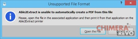 Unsupported File Format
