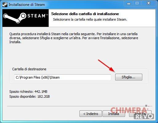 Installazione di Steam